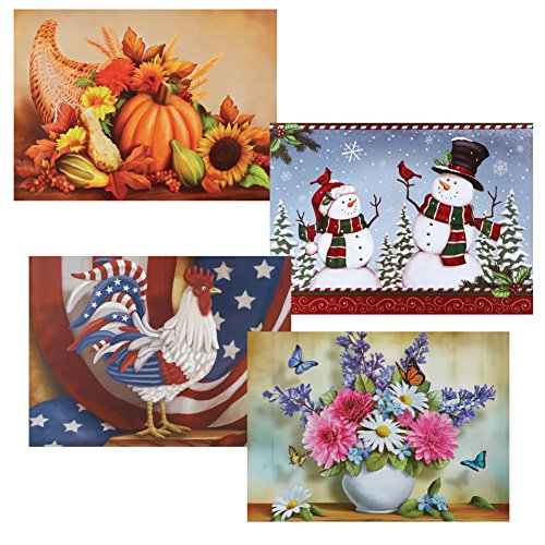 Seasonal Dishwasher Magnets - Set of 4 (Dishwasher Magnetic Covers compare prices)