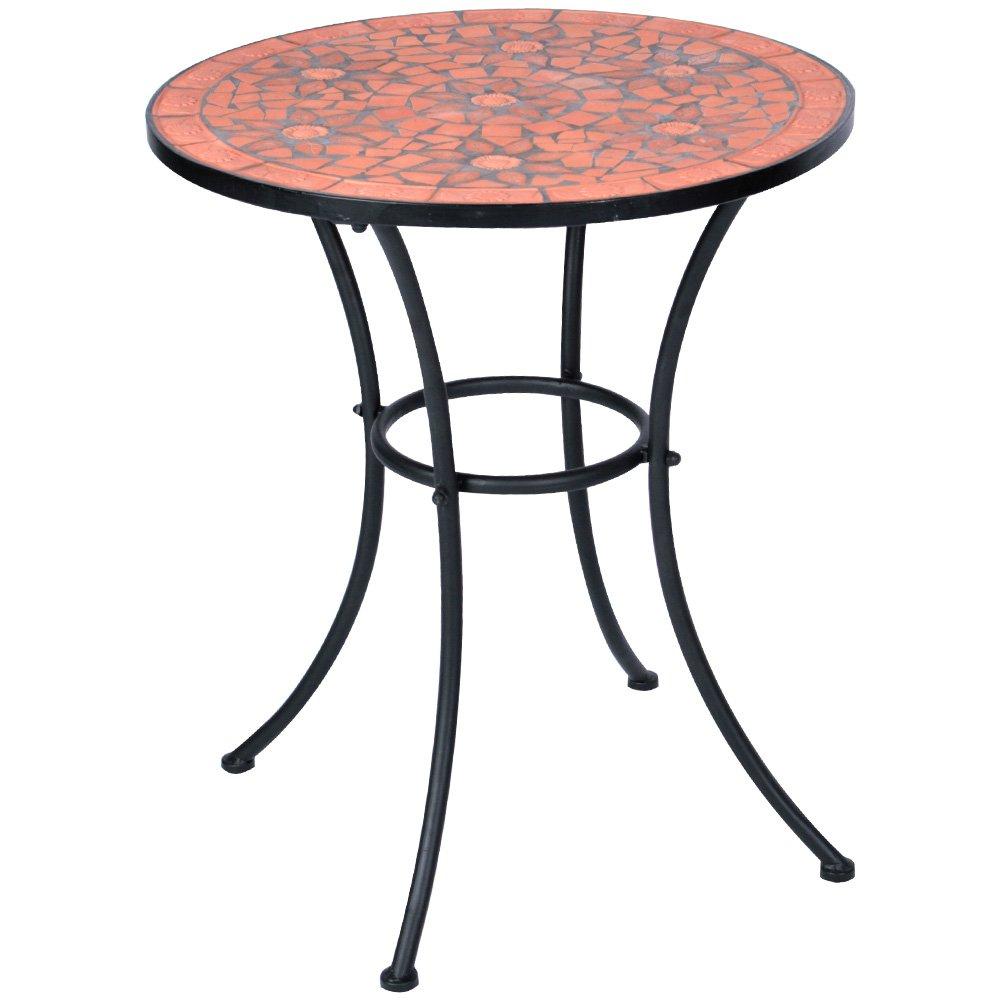 Hochwertiger & Stabiler Mosaik Beistelltisch Gartentisch in terracotta Ø 60cm online bestellen