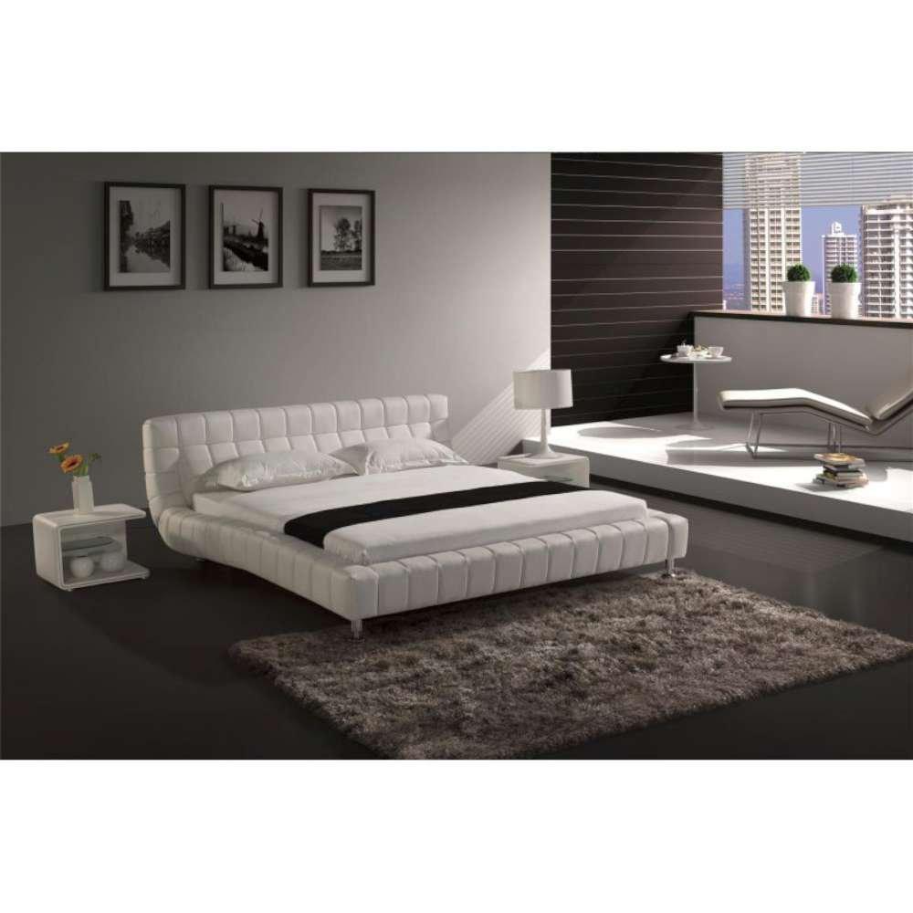 JUSThome Brooklyn Weiß Polsterbett Ekoleder Größe 140×200 cm günstig online kaufen