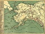 Alaska State Panoramic Map (9x12 Collectible Art Print, Wall Decor Travel Poster)