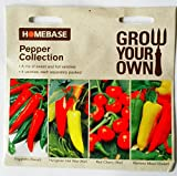 Homebase Pepper Collection Seeds A mix of sweet and Hot varieties , 4 varieties , each separately packed