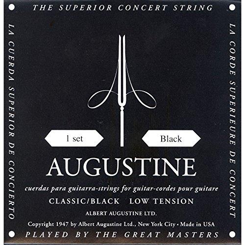 AUGUSTINE Augustine classical guitar string set Black BLACK SET