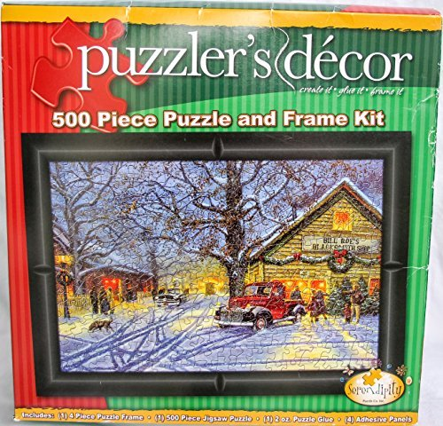 Serendipity Puzzler's Decor 500 Piece Puzzle and Frame Kit