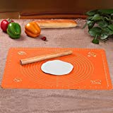 Extra Large Silicone Baking Mat for Pastry Rolling with Measurements(40×50cm),Chef Special,Non Stick,Non Slip,Pizza,Breads,Lasagna,and other Recipes & Desserts