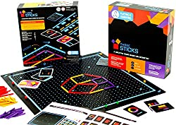 Kitki Three Sticks Maths Game For Kids Creative Educational Toys To Learn Geometry. Mind Game Gift For Boys & Girls