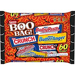 Nestle Halloween Candy, Boo Bag 60 pieces, 38 Ounce