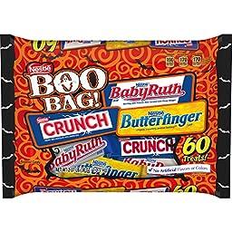 Nestle Halloween Candy, Boo Bag 60 pieces, 38 Ounce