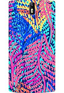 AMEZ designer printed 3d premium high quality back case cover for OnePlus One (abstract flower)
