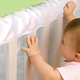 BreathableBaby CribShield Mesh Liner - White