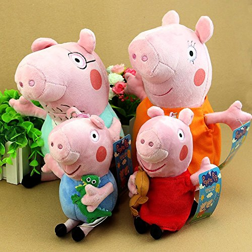 Toys For Mom And Dad : Laoonw pcs set peppa pig family plush toys includes