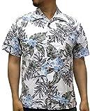 (ルーシャット) ROUSHATTE アロハシャツ 半袖 シャツ ハイビスカス 20柄 S アイボリー