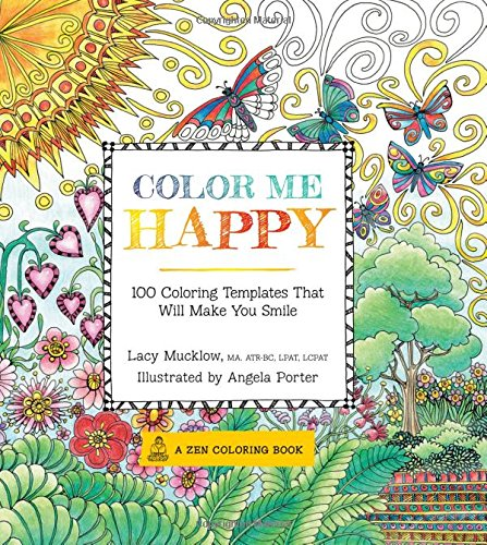 Color Me Happy: 100 Coloring Templates That Will Make You Smile (A Zen Coloring Book) (Free Books Of Ca compare prices)
