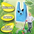 CUTE CARRIERS: Eco-friendly, Reusable Shopping Tote Bags! Collect All Eight Fun Characters! Buzz the Bee, Cassie the Cat, Corey the Clownfish, Pinky the Pig, Doug the Dog, Lexy the Ladybug, Penny the Penguin, and Peter the Panda - 4 Pack