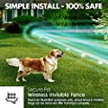 Secure-Pet Invisible & 100% Wireless Fence and Containment System with 2 Collars - Waterproof - Easy Setup - Plug 'n Play - Safe & Harmless - FREE eBook