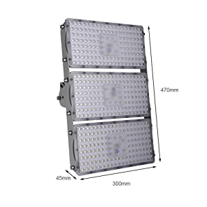 Viugreum 300W LED Flood Light, Waterproof IP65outdoor Work Light, 27000LM Daylight White(6000-6500K) Security Lights, Floodlight Landscape Spotlights Wall Lighting for Garage, Garden, Lawn and Yard (Color: 300w Cold White, Tamaño: 300W Cold White)