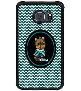 PRINTVISA Cute Cat Case Cover for Samsung Galaxy S6 Edge