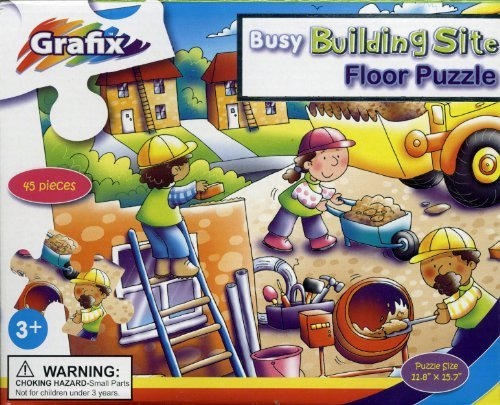 Floor Puzzle by Grafix - Busy Building Site - 1