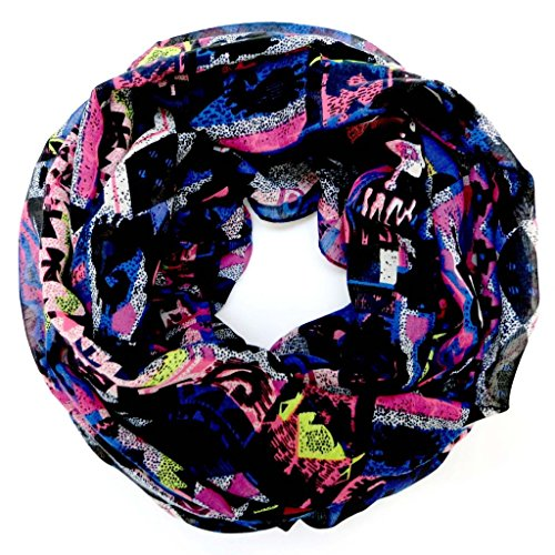 accessu-Echarpe-Foulard-pour-Femme-Multicolor-Ethno-Print-blueprupleyellow