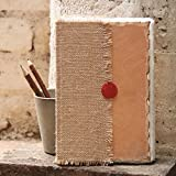 Store Indya Store Indya Appealing Hand Crafted Jute and Leather Diary with Handmade Cotton Paper