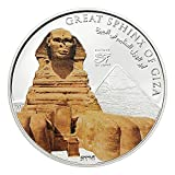 History of Egypt - Sphinx $1 Cu Ag-plated Coin - Cook Islands 2014