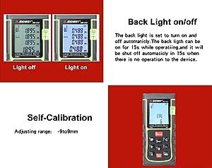 Laser Distance Measure Portable Digital Laser Distance Meter Measuring Device Tape Measure Digital Laser Ruler for Construction Decoration Job Site (262ft) (Color: 262ft)