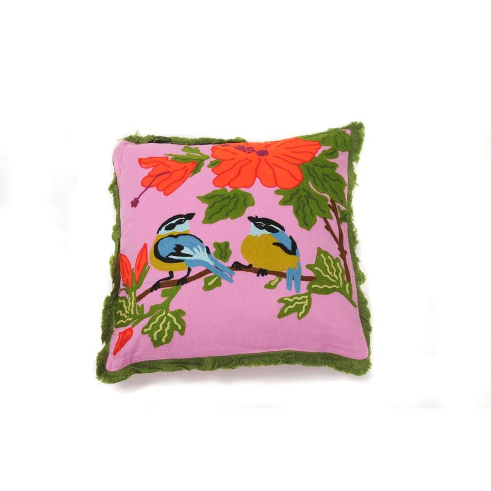 Hab&Gut (ic010) Kissen Indien Style, 40 x 40 cm, Dekokissen, Vogelmotiv günstig online kaufen