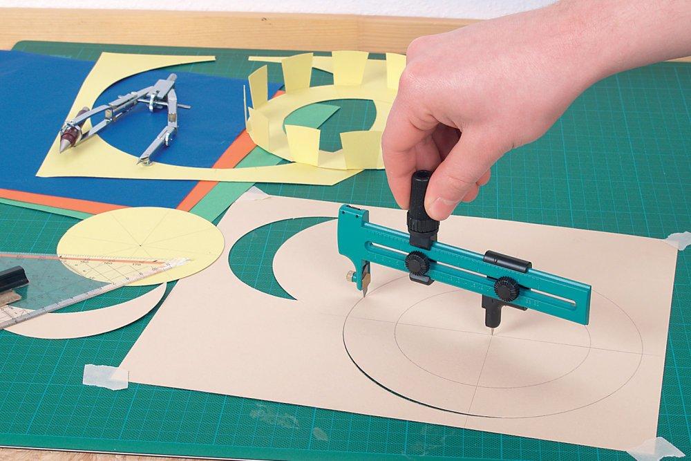 Cúter de corte circular con cuchillas de recambio