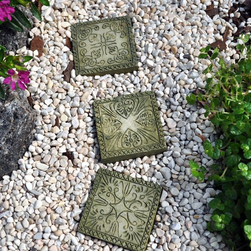 Miniature Fairy Garden Stepping Stones, Ancient Square, Set of 6 youe shone 2017 leather bag strap flowers fashion female bag shoulder straps you handbags accessories with gift box jd009