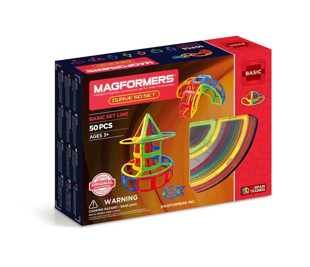 맥포머스 커브 세트 (50피스) Magformers Curve (50 Piece) Magnetic Building Set