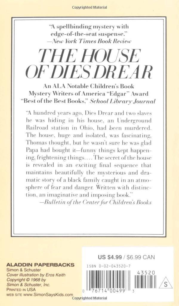 The House of Dies Drear (Dies Drear Chronicle): Virginia Hamilton ...
