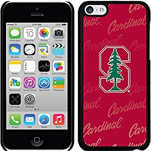 Coveroo Thinshield Snap-On Case for iPhone 5c - Retail Packaging - Black/Stanford University Repeating Design