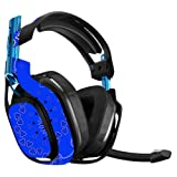 MightySkins Skin for Astro A50 Gaming Headset - Blue Bandana | Protective, Durable, and Unique Vinyl Decal wrap Cover | Easy to Apply, Remove, and Change Styles | Made in The USA (Color: Blue Bandana, Tamaño: Astro A50)