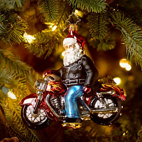 Christopher Radko Born to Be a Biker Glass Christmas Ornament 2014
