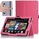 MoKo Amazon Kindle Fire HD 7 2014 Case - Slim Folding Cover Case for Amazon Kindle Fire HD 7 Inch 2014 Tablet, MAGENTA (With Smart Cover Auto Wake / Sleep)