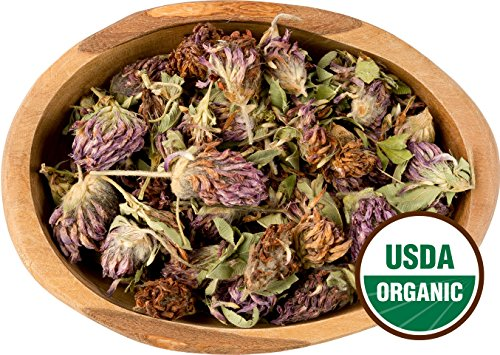 Organic Red Clover Leaf & Flower - 1 Pound (Lb.) Bulk / Wholesale Package