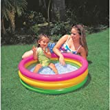SUNSET GLOW BABY POOL 34X10 3 RING KIDDIE POOL