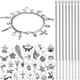 100 Pieces Jewelry Making Charm, 12 Pieces Stainless Steel Chain and 200 Pieces Open Jump Ring for Making Necklace Bracelet Jewelry and Craft