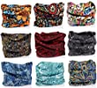 Pack of 9PCS, Outdoor Multifunctional Sports Magic Scarf, Magic Bandanas Tube, Seamless Scarf, Collars Muffler Scarf Face Mask, High Elastic Magic Headband with UV Resistance, Headscarves, Headbands (Totem 2)