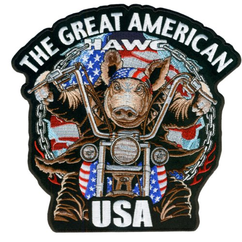 Hot Leathers Great Amerian Hawg Patch (4