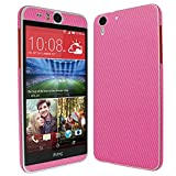Skinomi® TechSkin - HTC Desire Eye Screen Protector + Pink Carbon Fiber Full Body Skin Protector with Free Lifetime Replacement Warranty / Front & Back Wrap / Premium HD Clear Film / Ultra High Definition Invisible and Anti-Bubble Crystal Shield - Retail