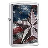 Zippo Star Lighter, Brushed Chrome