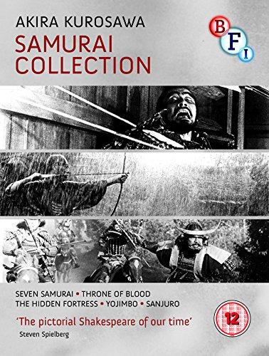 Akira Kurosawa - Samurai Collection (5 Films) - 4-Disc Box Set ( Shichinin no samurai / Kumonosu-jô / Kakushi-toride no san-akunin / Yojimbo [ NON-USA FORMAT, Blu-Ray, Reg.B Import - United Kingdom ]