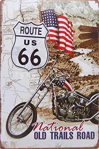 The National Old Trails Road, Metal Tin Sign, Wall Decorative Sign