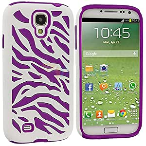 myLife Case for Samsung Galaxy S4 - White and Purple Zebra Stripe