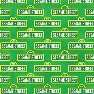 Quilting Treasures Sesame Street Green Street Sign