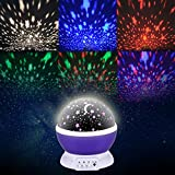 Liqoo® Sternenhimmel Projektor 360 Grad 4 LED-Korne Romantische Nacht Lampe