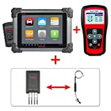 Autel Maxisys MS908+TS401+MV105+MP408 – Diagnostic Scanner with Specific Car ECU Coding& Programming TPMS Diagnostics & Service and Inspection Video Scope for Auto Service Centers or Workshops & Basic