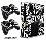 Designer Decal Sticker for XBOX 360 SLIM System & Remote Controllers -NorthStar-White