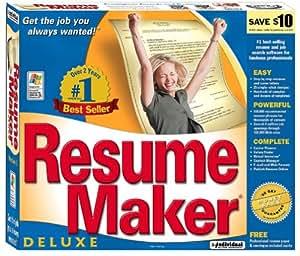 Resume maker deluxe 8