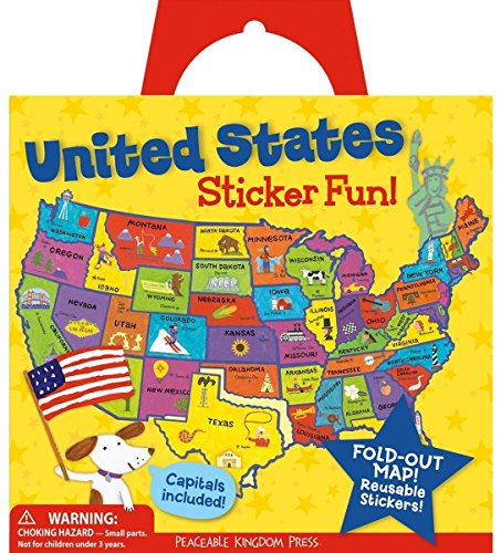 Peaceable Kingdom Award Winning Sticker Fun! United States Reusable Sticker Tote